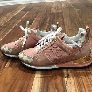 Louis Vuitton pink runway shoes